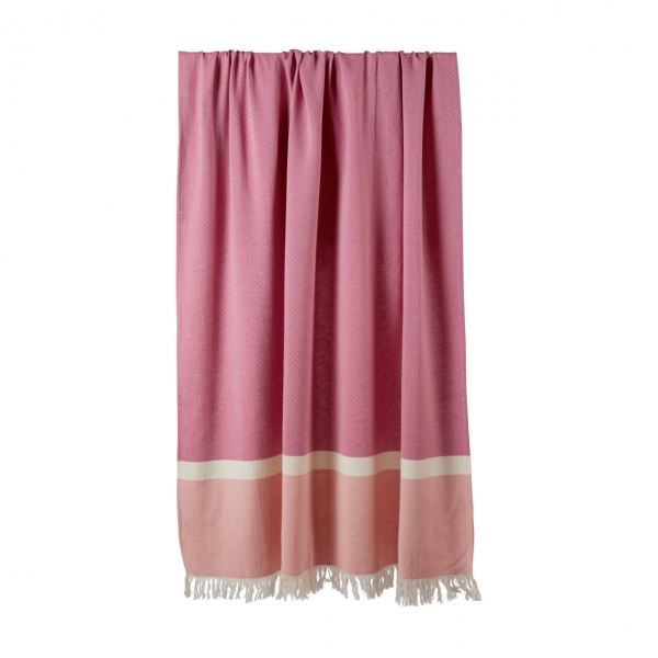 Sommertuch Beere Rosa 130x170