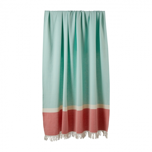 Sommertuch Mint Coral 130x170